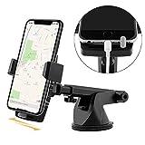 Maibahe Support Téléphone Voiture, Tableau de Bord Support Voiture Auto Ventouse Pare-Brise Rotation 360° Pour Smartphone iPhone 7/8/X, Samsung,GPS
