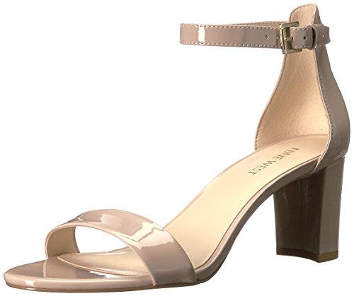 NINE WEST Women's Pruce Heeled Sandal, Natural Patent, 10.5