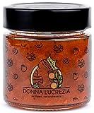Donna Lucrezia - Mermeladas artesanales - 240 gramos - Sin gluten, vegano - 100% natural - Hecho en Sicilia (Alicocca y Almendra)