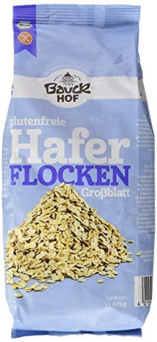 Bauckhof Haferflocken Großblatt glutenfrei, 3er Pack (3 x 475 g)