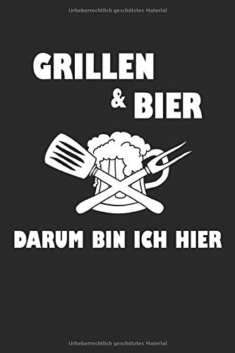 Grillen und Bier: Notizbuch bzw. Skizzenbuch mit 120 Seiten, Kariert, 15,24 x 22,86 cm