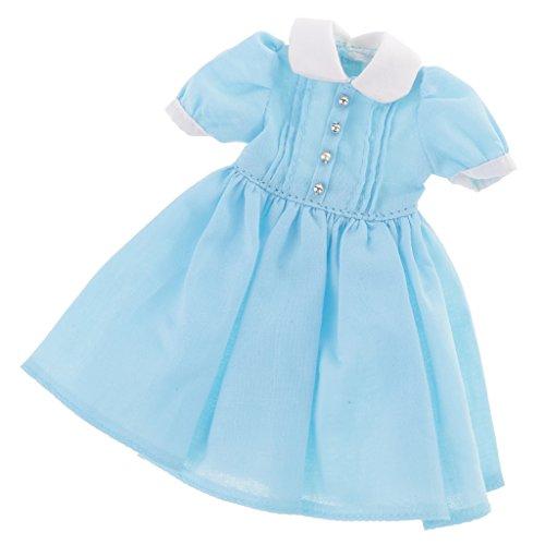 MagiDeal 12.5cm Ropa Encantadora Vestido Accesorio para Muñeca Blythe - Azul