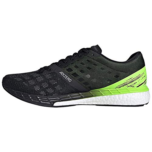 adidas Men's Adizero Boston 9 m Sneaker, Negbás/Negbás/Versen, 6 UK