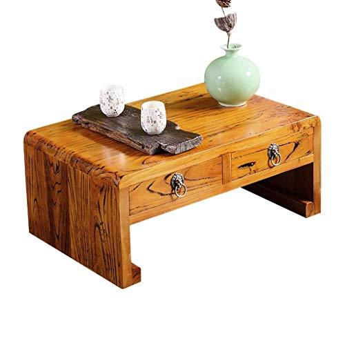 qazxsw Couchtische alte Ulme mit Schublade Teetisch Kleiner Erker Tisch Tatami Tisch