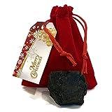 Christmas Coal Bag Extra Large, Real USA Coal, Ultimate Naughty List Lump of Coal Christmas Surprise! Plush Red Velvet Jewelry Bag, Designer Gift Tag! Stocking Stuffer, Anthracite Coal, Xmas Coal