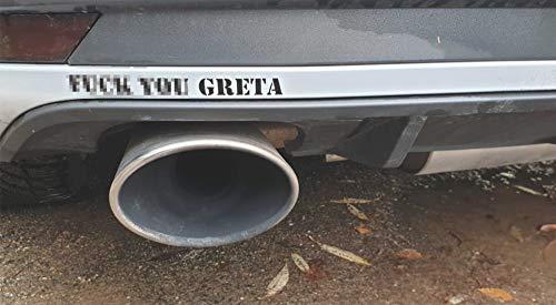 Greta Gretl, klimagreta Dirty Diesel Fun Fridays for Future Klima Aufkleber Sticker Anti Greta (schwarz)