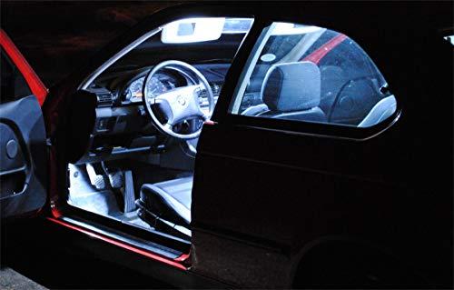 7x ampoules à led éclairage de voiture lampes de l?habitacle BLANC Pro!Carpentis compatible avec Altea XL FR à partir de 2004- jeu d?éclairage intérieurs