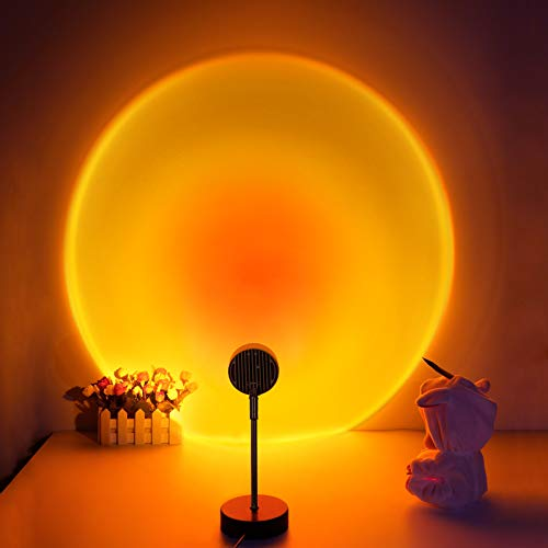 Sunset Lamp Projector for Room, LED Sunset Projection Night Light with 180° Rotation, Sunset Floor...