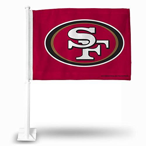 NFL Rico Industries Car Flag including Pole, San Francisco 49ers