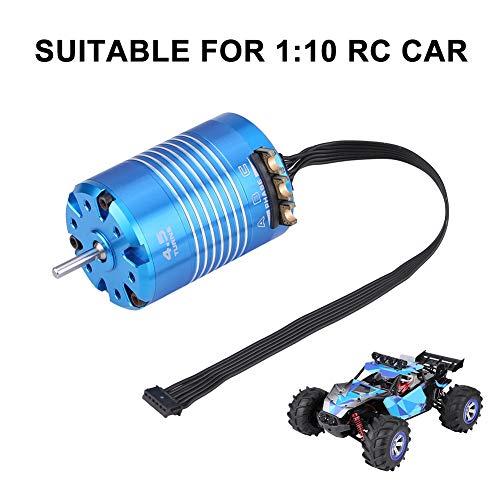 Dilwe RC Auto Motor, 2 Pole 540 4.5T / 13.5T Sensored Brushless Motor-RC-Teil für 1/10 Fernbedienung Auto-Zubehörteile(4.5T)