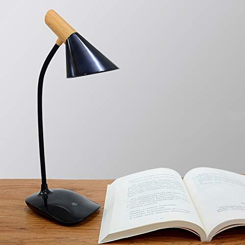 Cuidado Ocular LED Lámparas De Lectura con 360° Flexible, 3 Brillo Regulable, USB Recargable Lámpara para Libro, Control Táctil Lampara Escritorio De Mesa,4