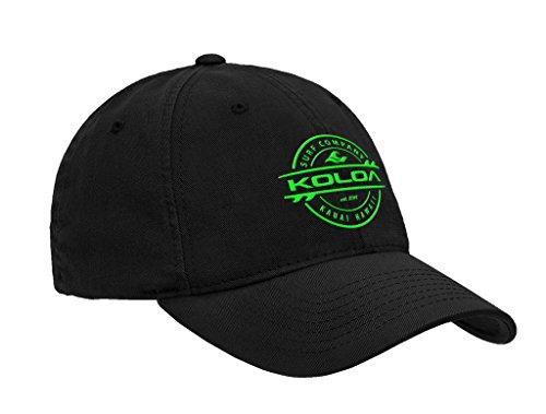 Koloa Surf Thruster Logo Classic Cotton Dad Hat-Black/Green