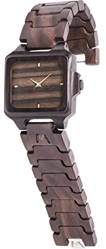 MATOA Rote -Reloj de madera hecho a mano | Hecho a mano con madera tropical...
