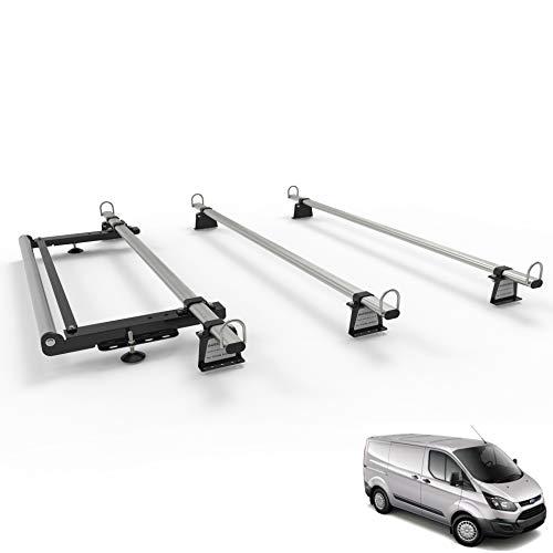 Autorack WorkReady Van Dachträger 3 Stangen mit Rolle für Ford Transit Custom ab 2012