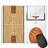 Ilustración del Tablero de la cancha de básquetbol Alfombrilla de ratón con Temas Deportivos realistas Alfombrilla de ratón Respaldo de Goma Antideslizante 10'X 12'