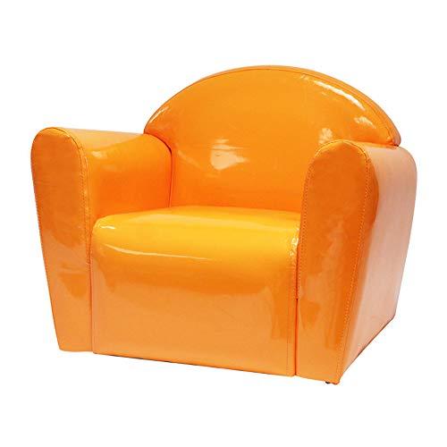 HAKN Sofa d'enfants, sofa mignon en cuir de sofa de sofa de dessin animé de bébé mignon (Couleur : Le jaune)
