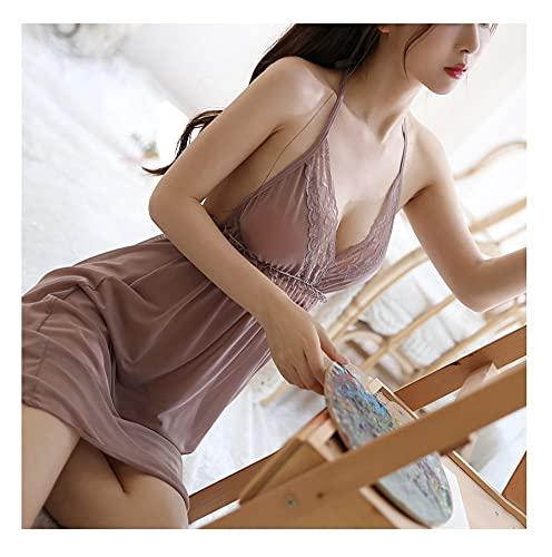 WemaSoo6 Tangas sexys Mujer, Disfraces Mujer Sexy Lenceria Mujer Sexy Lenceria Mujer Erotica Abierta Pijamas de Ropa Interior Sexy para el hogar de la tentación del Cuello Colgante