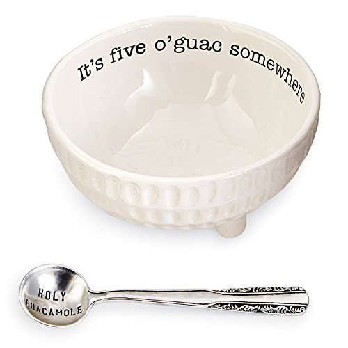 Mud Pie Circa Guacamole and Salsa Serving Dish Sets (Five O'Guac)