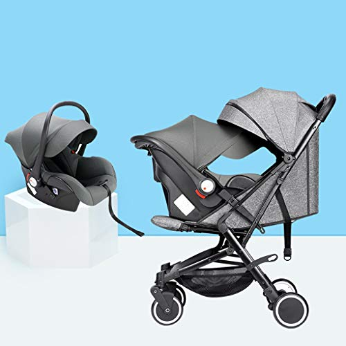 Best Deals! KHUY Baby Stroller Pram Carriage Stroller - Pushchair Stroller Compact Convertible Luxur...