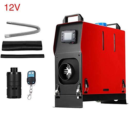 Verwarming voor auto, 5 kW, 12 V/24 V, eenvoudige integratie met gaten voor lucht en diesel, staande verwarming, LCD-display, autoverwarming, met afstandsbediening, ruimtebesparend. 12 V
