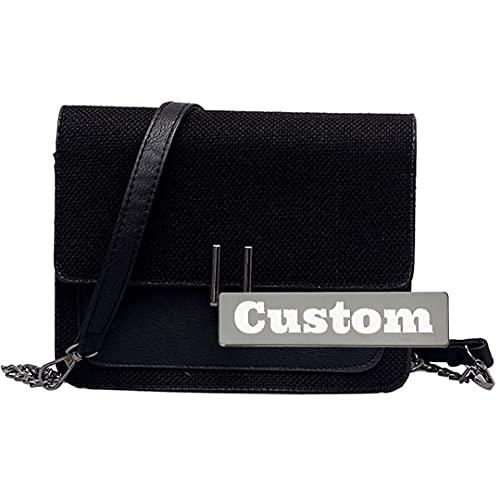 Nombre Personalizado Bolso Barato Barato Bolso y Monedero Crossbody para la Bolsa de Hombro de Moda clásica (Color : Black, Size : One Size)