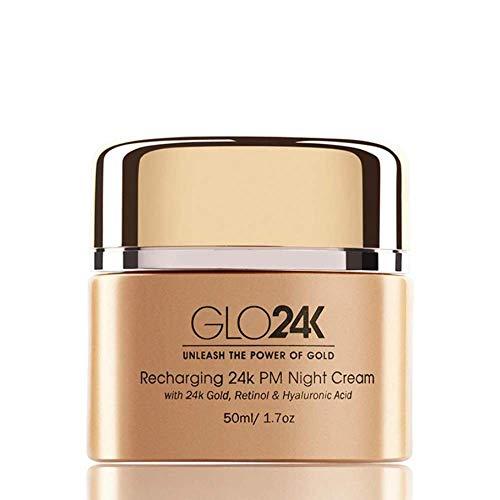 GLO24K Retinol Night Cream con 24k, fórmula antienvejecimiento con ácido hialurónico