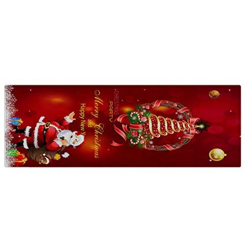 Timetided Wingbind Teppich rutschfeste Unterlage Teppich Wohnzimmer Short Pile Fußmatte Indoor Fun Waschbare Weihnachten Home Decoration