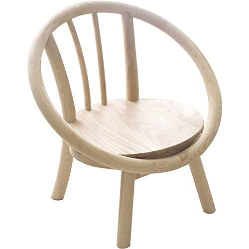Massivholzstuhl für Kinder mit Armlehne, einfacher und eleganter Kleiner Holzfußhocker, leicht, langlebig, robust, leicht zu handhaben und aufzubewahren, Holzfarbe