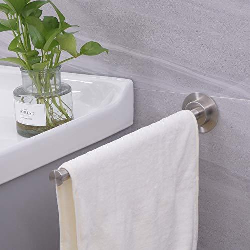 Handtuchhalter Selbstklebend,Dailyart 40cm Handtuchstange einarmig Handtuchhalter Bad Ohne Bohren badetuchhalter Handtuchstange Edelstahl Gebürstet Wandmontage Kleben Einfache Montage,für Badezimmer