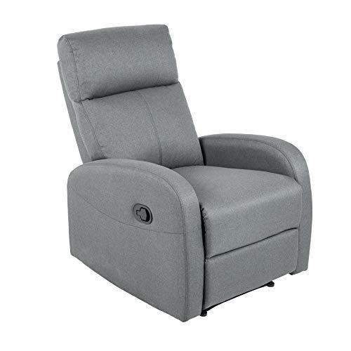 riess-ambiente.de Moderner Relaxsessel Hollywood II grau Fernsehsessel mit Liegefunktion Sessel Wohnzimmersessel