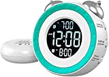 2021 OCUBE Loud Alarm Clock with Bed Shaker, Alarm Clocks for Heavy Sleepers or Hearing Impaired, Deaf Alarm Clock Bedside with Adjustable Dimmer and Volume, Snooze,USB Charging Port