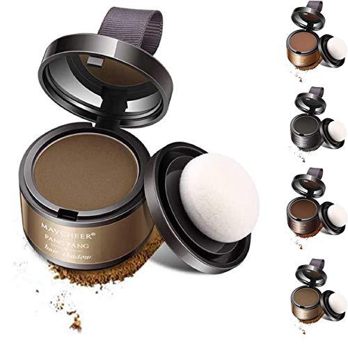 KFGJ Hairline Shadow Powder Magical Hair Powder Línea de Cabello Shadow Powder Maquillaje Cobertura del Cabello Corrector en Polvo Cobertura de Color instantáneo Marrón Claro