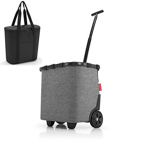 reisenthel carrycruiser Twist Silver Einkaufstrolley + reisenthel thermoshopper Kühltasche schwarz im Set