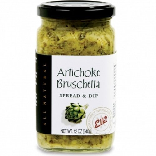 World Market Elki's Gourmet Artichoke Bruschetta - Artichoke Spread - Bruschetta Bread Spread - Bruschetta Spread - Italian Bruschetta Bread Spread - Made from Fresh and Natural Ingredients - 12 Ounce