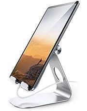 タブレット スタンド アルミ ホルダー 角度調整可能, Lomicall iPad用 stand : 卓上縦置きスタンド, タブレット置き台, デスク台, 立てる, 設置, aluminium, あいぱっと, タブレット対応(4~13''), アイフォン, アイパッド ミニ エア プロ, iPad, iPad mini, iPad Air, iPad Pro 9.7 10.2 10.5 11 12.9, S7 S8 Note 6, Kindle, Sony, Huawei MediaPadに対応