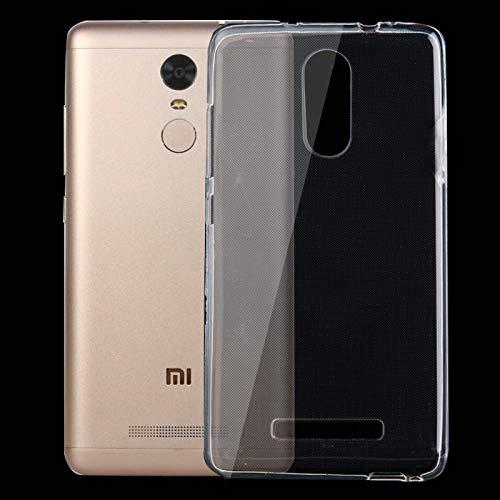 Caja del teléfono Celular WHHHRH 50 PCS para Xiaomi Redmi Note 3 0.75mm Funda Protectora TPU Transparente Ultra Delgada (Color : Color1)