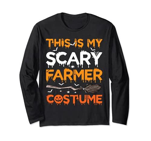 Este es mi disfraz de granjero aterrador Halloween Manga Larga