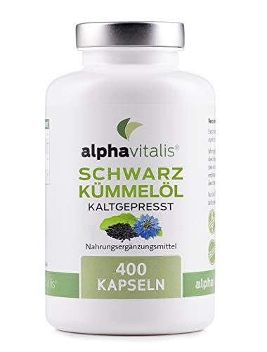 Schwarzkümmelöl - 1000 mg pro Tagesportion - 400 Kapseln - Original aus Ägypten - kaltgepresst - 80% ungesättigte Fettsäuren - mit Vitamin E