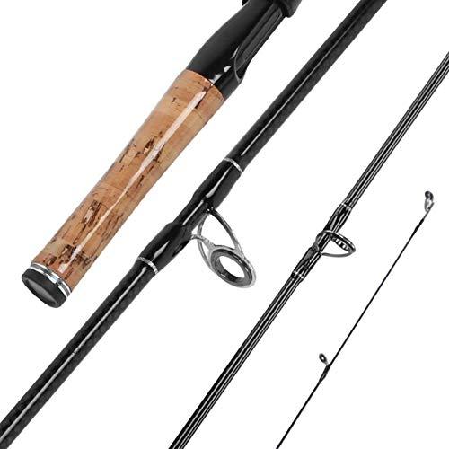 DAUERHAFT Leichte Angelrute Angelgerät Angelrute Mini-Angelrute Hochwertige, zum Angeln, für Salzwasserfische(1.8 Meters, Straight Handle)