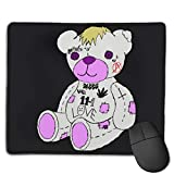 Lil Peep Bear Mouse Pad Gaming Non-Slip Rubber Mousepad, Working Or Game 8.6 x 7inch