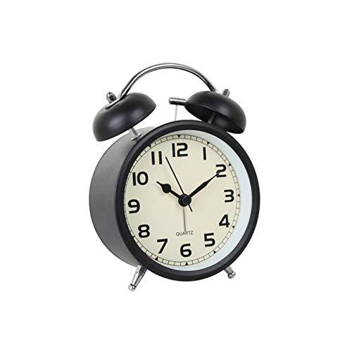 Unbne Reloj Despertador De Campana Doble Relojes De Noche Silenciosos Funciona con Pilas Sin Tictac Decorativo para Cualquier Habitación En El Hogar Comedor Cocina Oficina Escuela