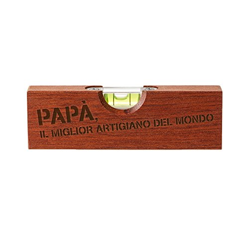 Casa Vivente 2 in 1 Apribottiglie e Livella a Bolla con Incisione papà Miglior Artigiano del Mondo, Attrezzo da Lavoro...