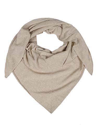 Zwillingsherz Dreieckstuch mit Kaschmir - Hochwertiger Schal im Uni Design für Damen Jungen und Mädchen - XXL Hals-Tuch und Damenschal - Strick-Waren für Sommer und Winter - 150cm x 120cm - hbg