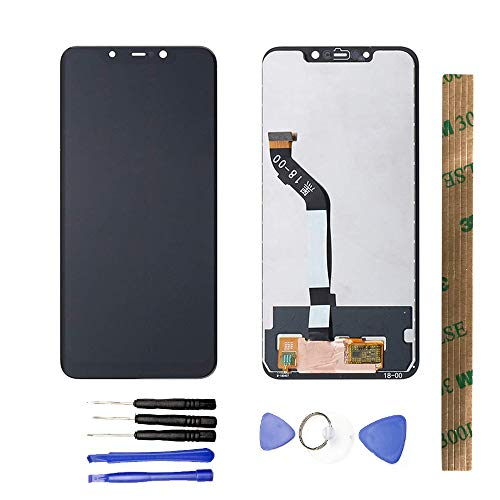 JayTong LCD Display & Replacement Touch Screen Digitizer Assembly with Free Tools for Xiaomi Mi Pocophone F1 / Poco F1 Black