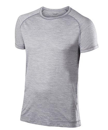 Falke Silk Wool shirt met korte mouwen voor heren, merinowol/zijde, 1 stuks, verschillende Kleuren, maat S-XXL - vochtregulerend, sneldrogend, bescherming bij warme en koude buitentemperaturen.