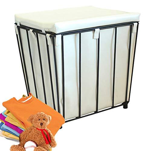 LAYG Badhocker mit Sitzkissen Sauna Badezimmer Sitz Wäschekorb Sitzhocker mit Stauraum Bettbank Schlafzimmerbank Flurbank Schuhbank Sitzbank mit Aufbewahrung Aufbewahrungshocker Aufbewahrungsbox