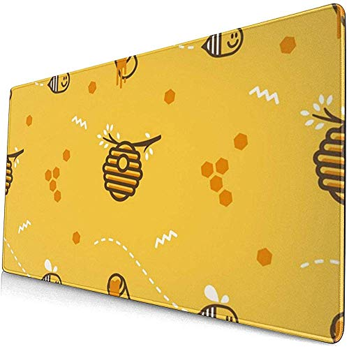 Muismat Mousepad Mouse Mat Anti-lip Rubber Duurzame Leuke Vliegende Kleine Bee Hive Honingraat met Honing