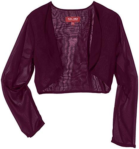 G.O.L. Mädchen Chiffon-Bolero Jacke, Rot (Bordo 73), (Herstellergröße:176)