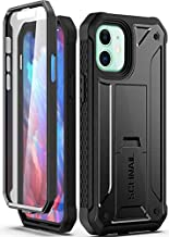 Schnail Titan Compatible with iPhone 12 Case iPhone 12 Pro Case, Military Grade Drop Tested Heavy Duty Full Body Protective Case with Built-in Screen Protector and Kickstand - Black