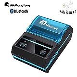 Récepteur Thermique Imprimante Bluetooth Mini imprimante sans Fil 58mm Imprimante Portable MHT-P5801 Android iOS POS USB avec Batterie Rechargeable Compatible avec Les Commandes ESC/POS